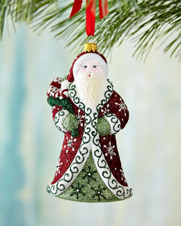 Mattarusky Ornaments Regal Santa Christmas Ornament