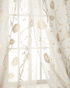 Creative Threads Each 108L Regal Embroidered Floral Sheer