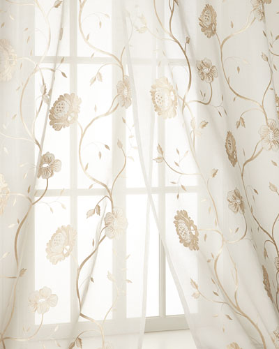 Each 108L Regal Embroidered Floral Sheer