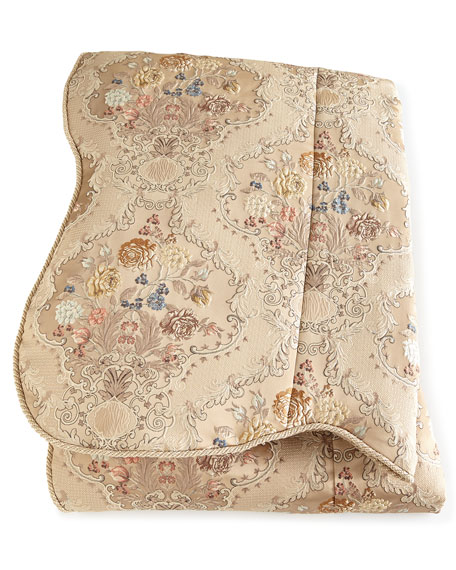 Queen French Chantilly Floral Brocade Duvet Cover