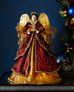 Burgundy & Gold Angel