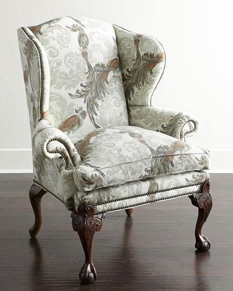 & Old Hickory Tannery Marbury Wing Chair