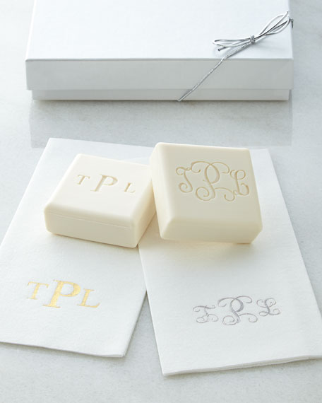 Soap/Towel Gift Set with Block-Style Personalization