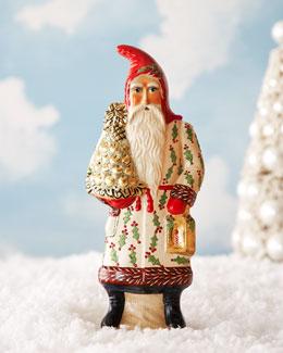 Vaillancourt Folk Art Santa in Hollyberry Coat