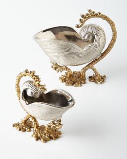 Florence de Dampierre Two Nautilus Shells