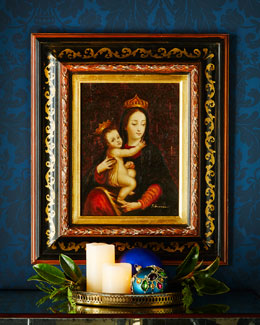 Madonna & Child Oil Painting, Rectangular Frame