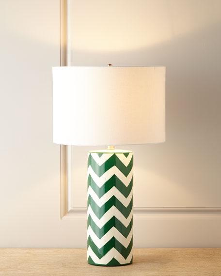 Green Chevron Lamp