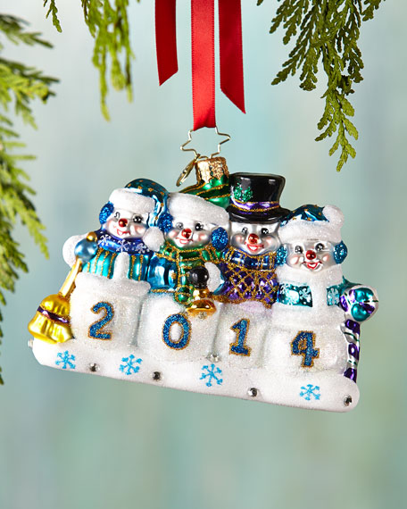 A Snow-mazing Year Christmas Ornament