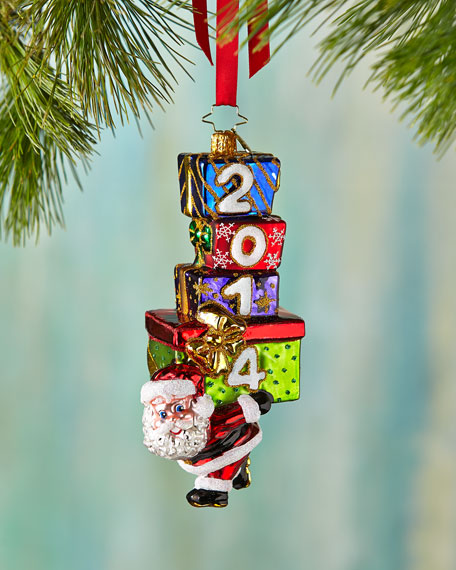 Carry in the Year Christmas Ornament