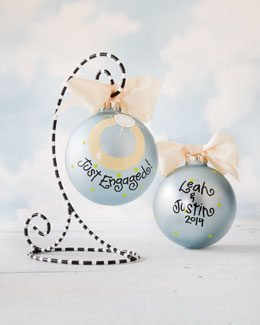 Coton Colors Just Engaged Personalized Christmas Ornament