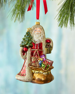 Santa with Lantern Christmas Ornament