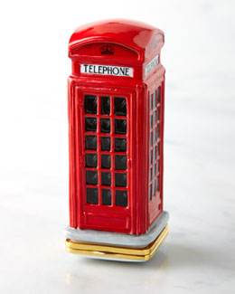Halcyon Days Enamels Telephone Box Bonbonniere