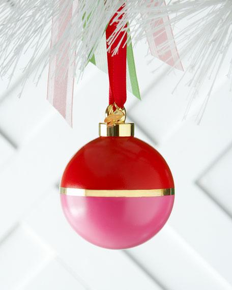 kate spade new york pink orange colorblock christmas ornament