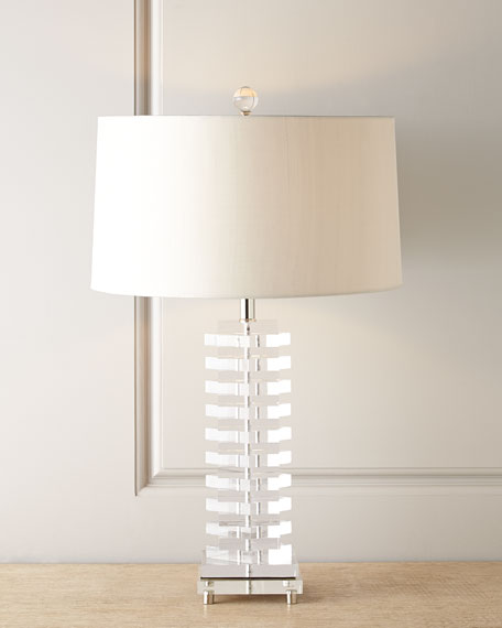 John richard collection acrylic blocks lamp
