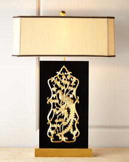John-Richard Collection Hiding Peacock Lamp