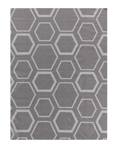 Dark Gray Honeycomb Rug  8' x 11'