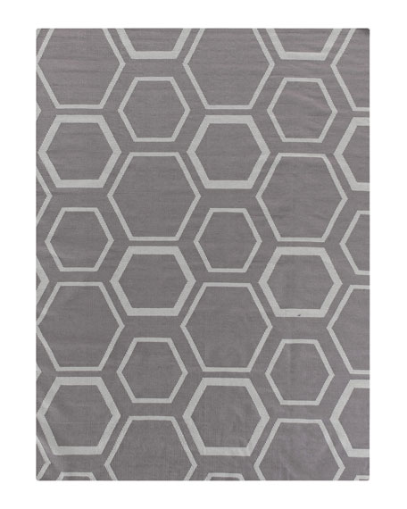 Exquisite Rugs Dark Gray Honeycomb Rug, 8' x