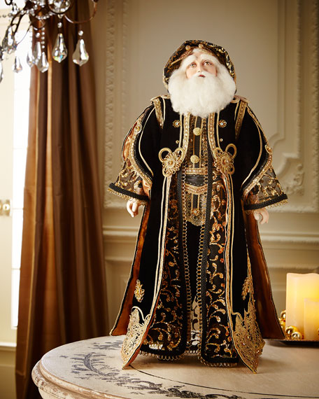 Katherine S Collection Black And Gold 24 Quot Santa