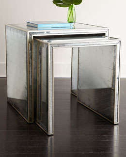 John-Richard Collection Eglomise Nesting Side Tables