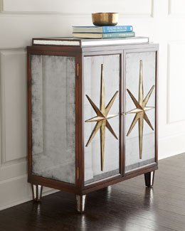 John-Richard Collection Starburst Mirrored Chest