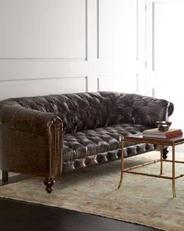 Old Hickory Tannery Winton Leather Sofa