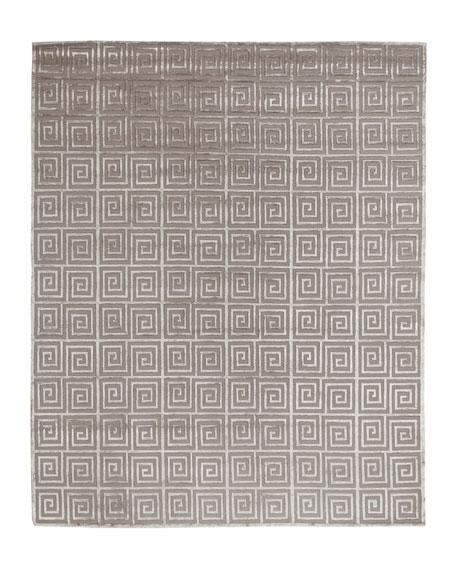 Diona Greek Key Rug, 6' x 9'