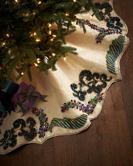 Kim Seybert Masquerade Christmas Tree Skirt