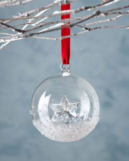 SWAROVSKI 2014 Annual Crystal Ball Christmas Ornament