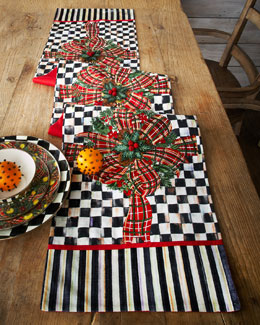 MacKenzie-Childs Bows & Boughs Table Runner