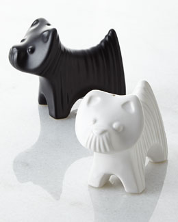 Jonathan Adler Terrier Salt & Pepper Shakers