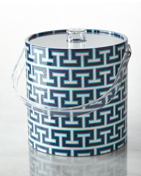 Mykonos Stripe Ice Bucket