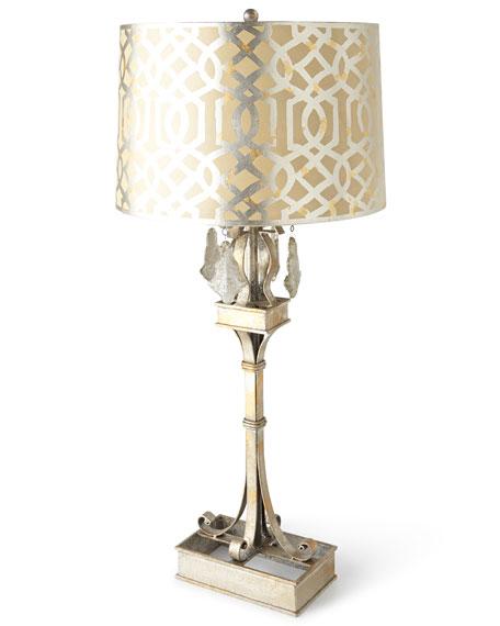 ANTIQUE SILVER IRON LAMP