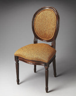 Coral Round-Back Side Chair