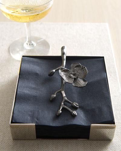 Black Orchid Cocktail Napkin Holder