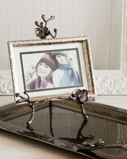 Black Orchid Easel Photo Frame