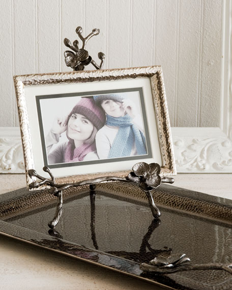 Black Orchid Easel Photo Frame