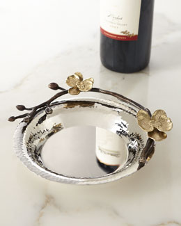 Gold Orchid Wine Coaster