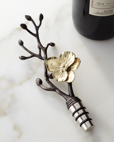 Michael Aram Gold Orchid Wine Stopper