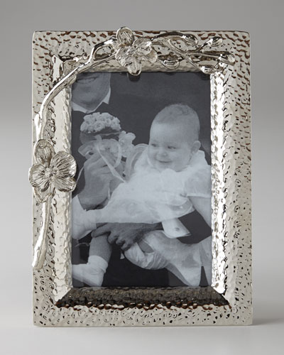 White Orchid 4 x 6 Photo Frame