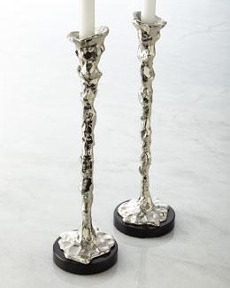 Lava Candlesticks
