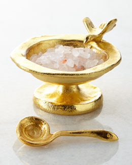 Birdbath Salt Cellar & Snake Spoon