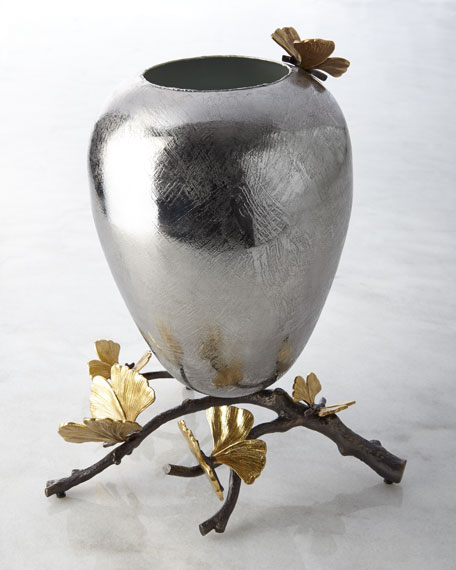 Medium Butterfly Ginkgo Vase