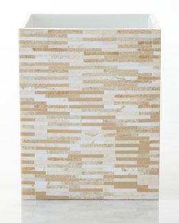 Gail Deloach Stone Tile Mosaic Wastebasket