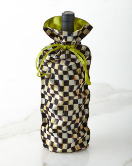 Courtly Check Wine Bag