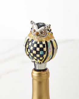 MacKenzie-Childs OWL BOTTLE STOPPER