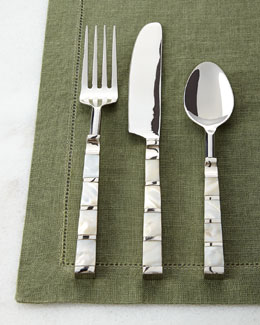 20-Piece Mother-of-Pearl Striped Flatware Service