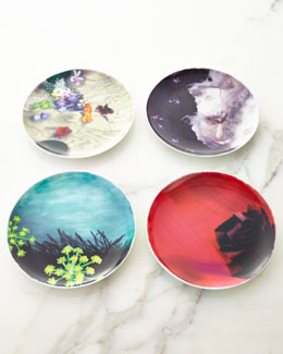 Lela Rose Four Assorted Lela Rose Dessert Plates
