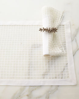 Lela Rose Linen & Lace Placemat & Napkin Set