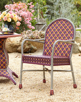 MacKenzie-Childs Sunset Outdoor Cafe Chair