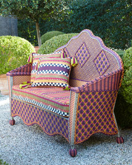 MacKenzie-Childs Sunset Outdoor Loveseat